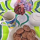 Coffee and Biscuits and flowers by TeAnne