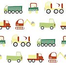 Construction vehicles by Sandy Mitchell