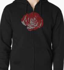 Juice WRLD all girls are the same rose Zipped Hoodie