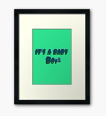 blessed with baby boy Framed Print