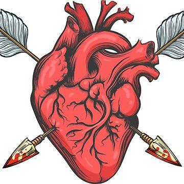 Heart Pierced by Two Arrows by devaleta