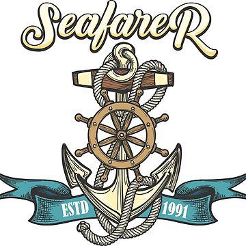 Seafarer Emblem in Tattoo style by devaleta