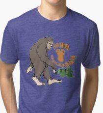 Gone Squatchin Bigfoot Tri-blend T-Shirt