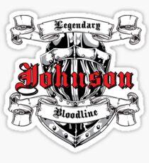 Johnson - Legendary Bloodlines  Sticker