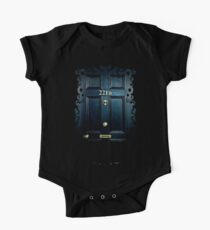 Haunted Blue Door with 221b number One Piece - Short Sleeve