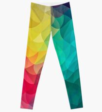 Abstract Color Wave Flash Leggings