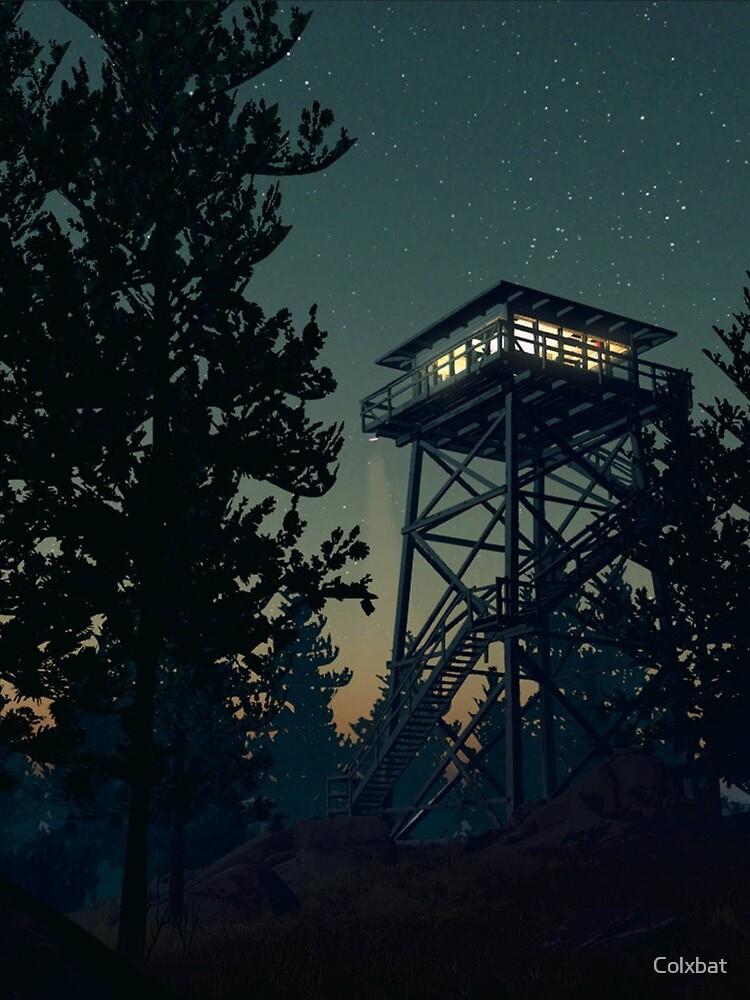 Firewatch Nighttime Art Design - 4k by Colxbat