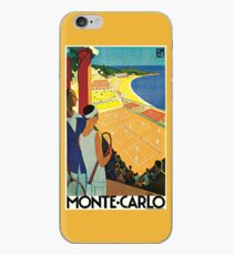 1920s Vintage Monte Carlo Tennis Travel Ad  iPhone Case