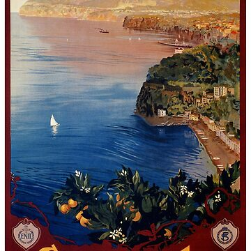 Italy Sorrento Bay of Naples vintage Italian travel advert by aapshop