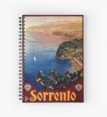 Italien Sorrento-Bucht von Neapel-Weinlese italienische Reiseanzeige Spiralblock