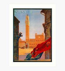 Vintage Siena Italian travel advertising Art Print