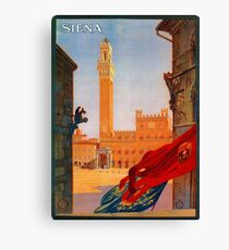 Vintage Siena Italian travel advertising Canvas Print