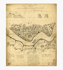 Original West Point Survey Map October 24th-27th 1783 Photographic Print