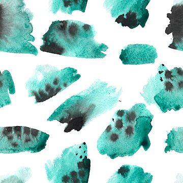 watercolor polka dots seamless pattern by OlgaBerlet