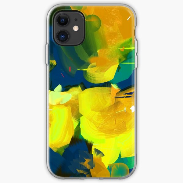 Summer #Abstract #Flowers iPhone Soft Case