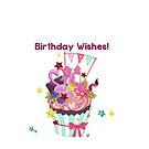 Birthday Wishes Girly Cupcake by purplesensation