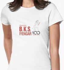 BKS Iyengar Official Centenary Year Logo - charity design Women's Fitted T-Shirt