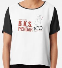 BKS Iyengar Official Centenary Year Logo - charity design Chiffon Top
