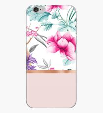 Chinoiserie Perle weiß floral & Roségold iPhone-Hülle & Cover