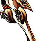 Fluffy Velociraptor by DelythThomasArt