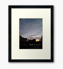Brooklyn, New York City, sunset, evening, #Brooklyn, #NewYorkCity, #sunset, #evening, #nature, #sky, #clouds Framed Print