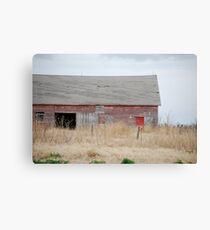 Rare Red Barn in Kansas Canvas Print