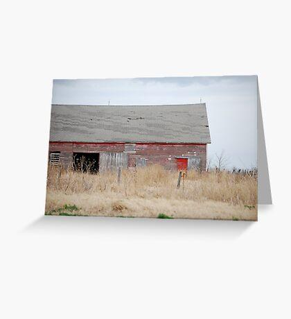 Rare Red Barn in Kansas Greeting Card