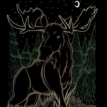 Canadian Bull Moose by JCoulterArtist