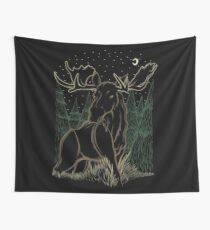 Canadian Bull Moose Wall Tapestry