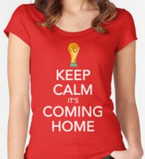 Keep Calm, It's Coming Home Women's Fitted Scoop T-Shirt
