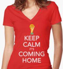 Keep Calm, It's Coming Home Women's Fitted V-Neck T-Shirt