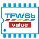 The Future Was 8 Bit Value Range Logo by tynemouthsw