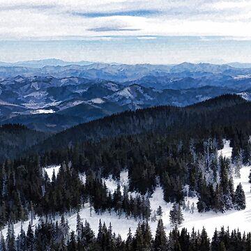 Snowy Ridges - Impressions of Mountains by GeorgiaM