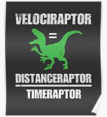 Velociraptor entspricht Entfernung Raptor Poster