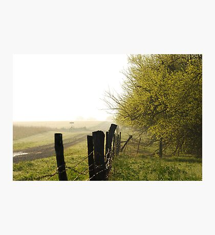 Misty Country Morning in Kansas Photographic Print