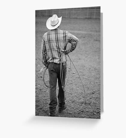 Cowboy Waits Greeting Card