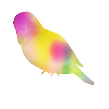 Watercolor Budgie by parakeetart