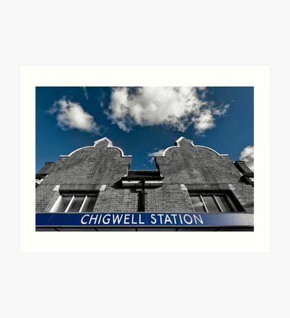 Chigwell Tube Station Art Print