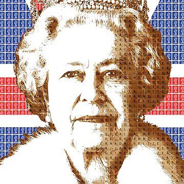 The Scrabble Queen - Union Jack by garyhogben
