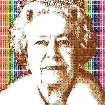 The Scrabble Queen - Rainbow by garyhogben
