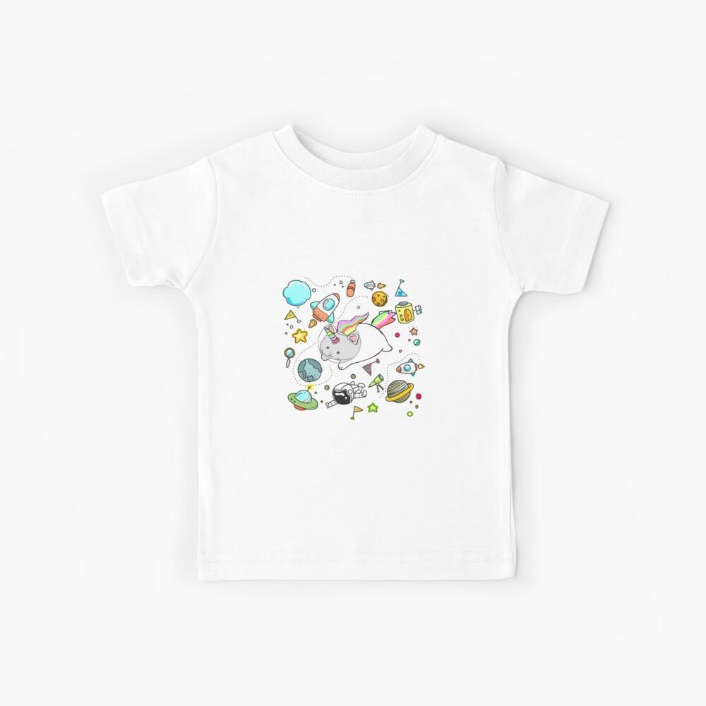 Caticorn im Weltraum Kinder T-Shirt