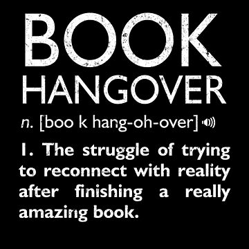 Book Hangover Funny Definition for Book Lovers Bibliophile by JapaneseInkArt