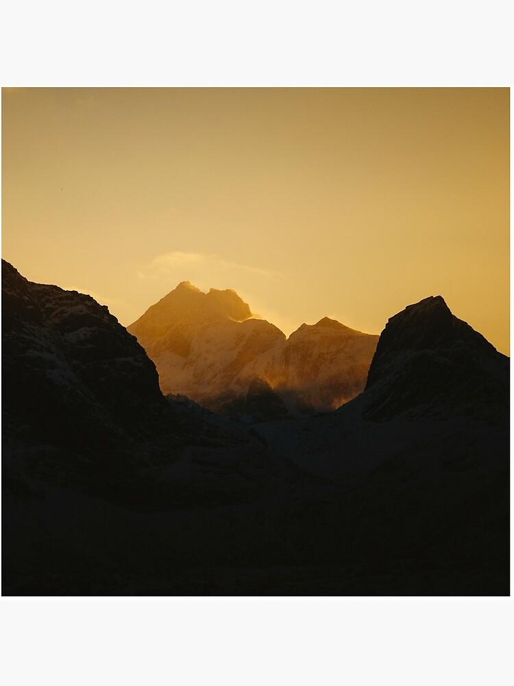 «Coucher de soleil sur les Îles Lofoten en Norvège» par patricemestari