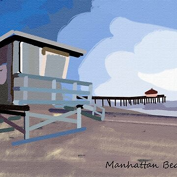 Manhattan Beach CA Life Guard Tower by Kgphotographics