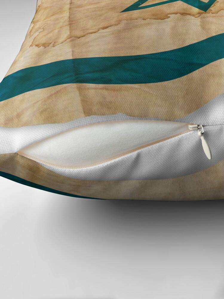 Alternative Ansicht von Israeli Flag in Vintage Dekokissen