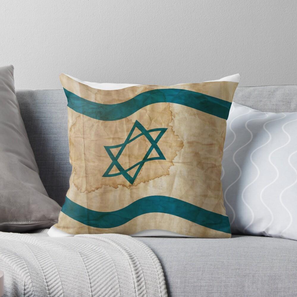 Israeli Flag in Vintage Dekokissen