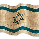 Israeli Flag in Vintage by pASob-dESIGN