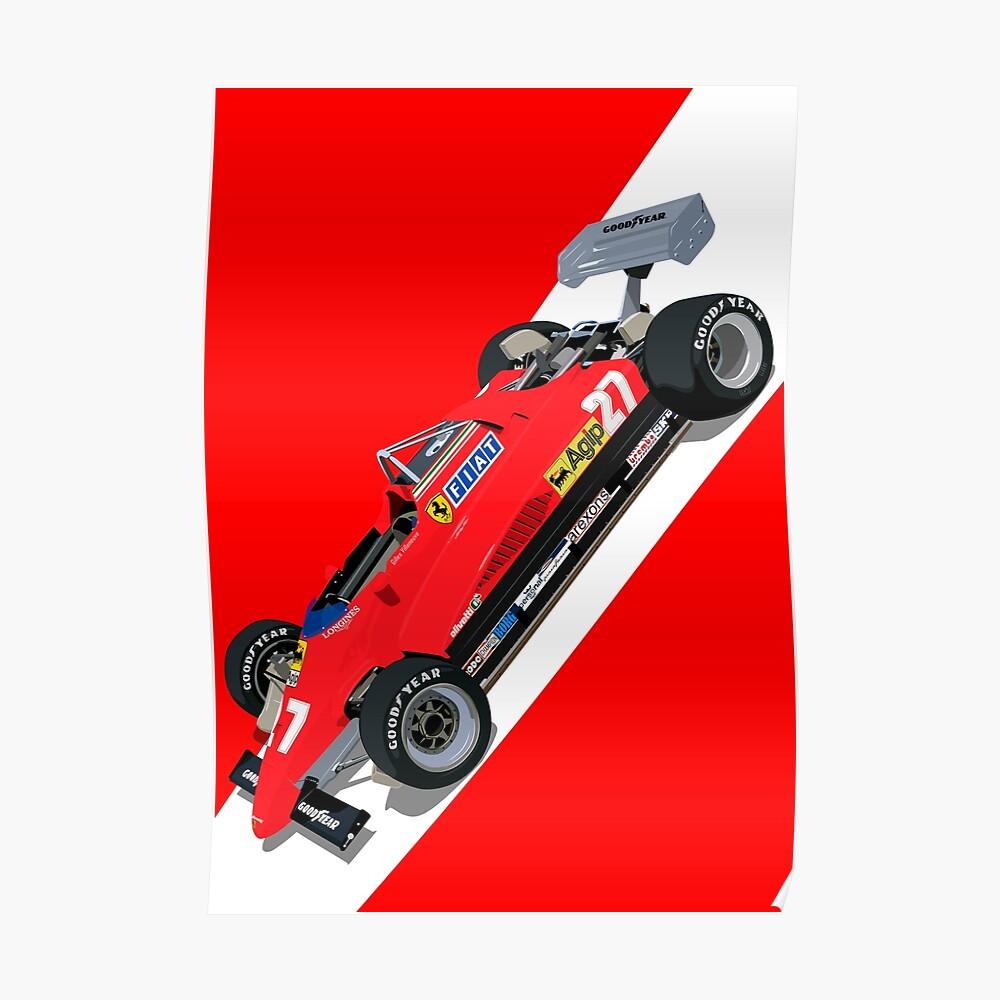Scuderia 126C2 Gilles Villeneuve Poster