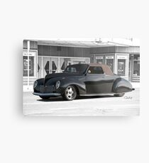 1938 Lincoln Zephyr Convertible Coupe Metal Print