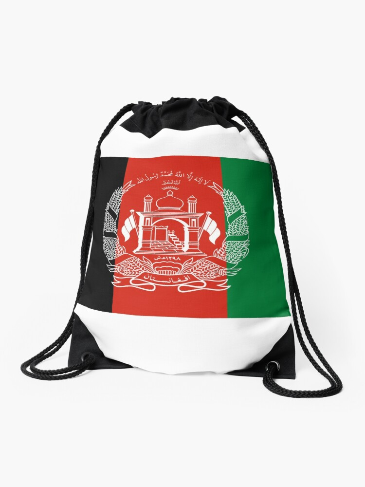 Afghanistan Flag | Flags of World Geography Vexillology | Drawstring Bag